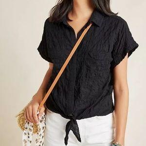 Cloth & Stone Liya Crinkle Tie Front Shirt